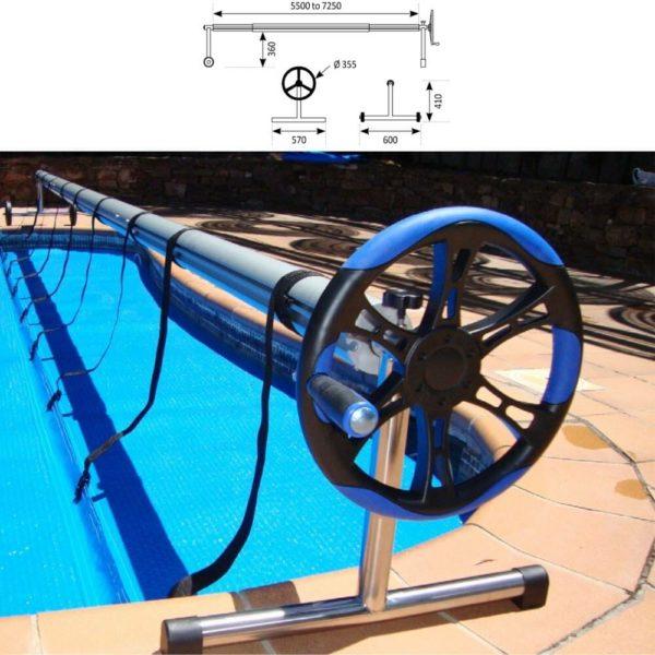 Μηχανισμός για τύλιγμα ισοθερμικών καλυμμάτων Bubble Covers PLUS 5-6